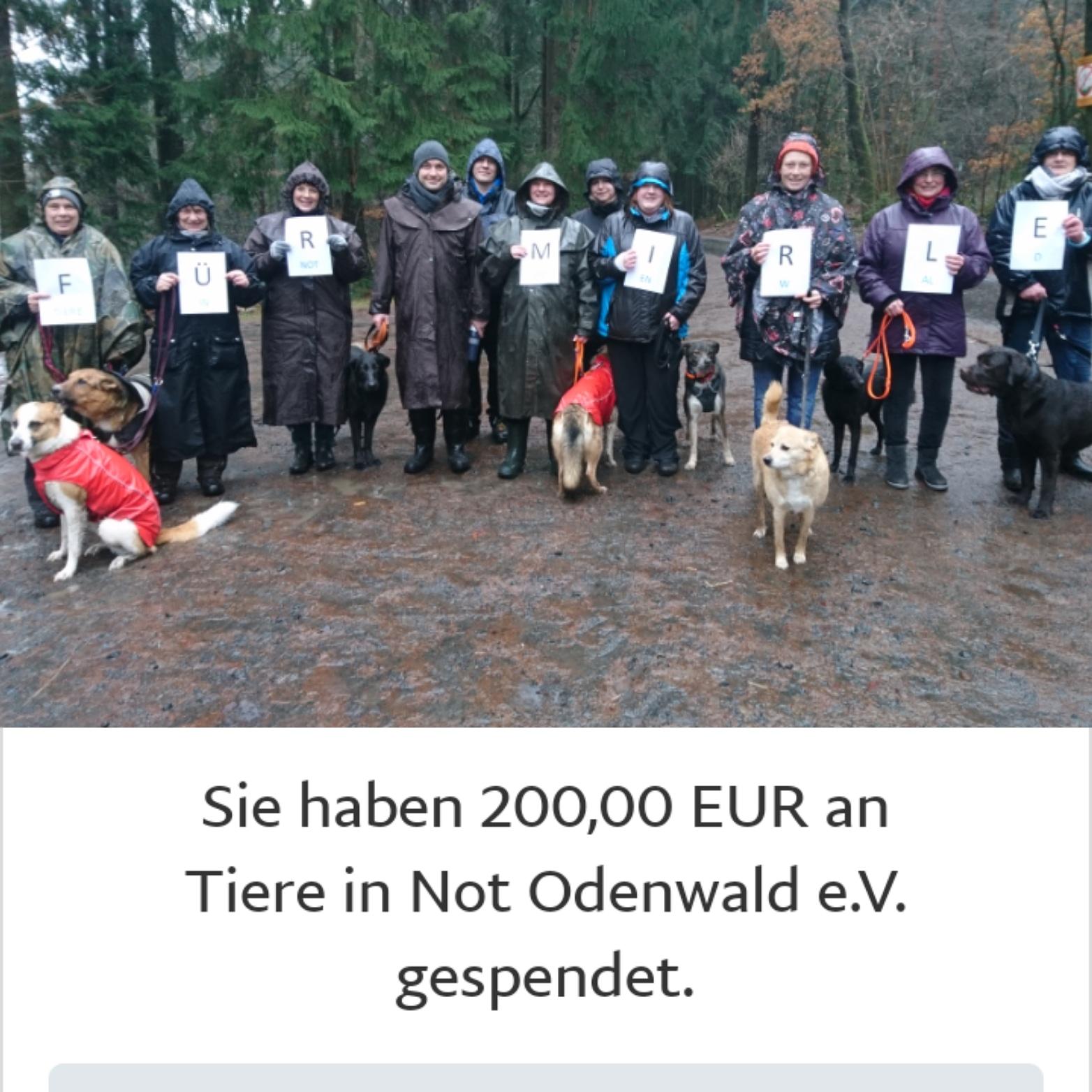 Spendenwanderung für Mirle